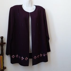 Montee Collection Cardigan Purple Size 16W